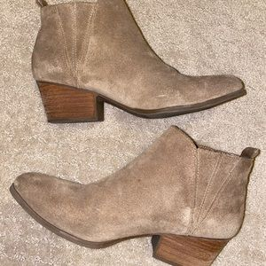 Tan Suede Ankle Bootie